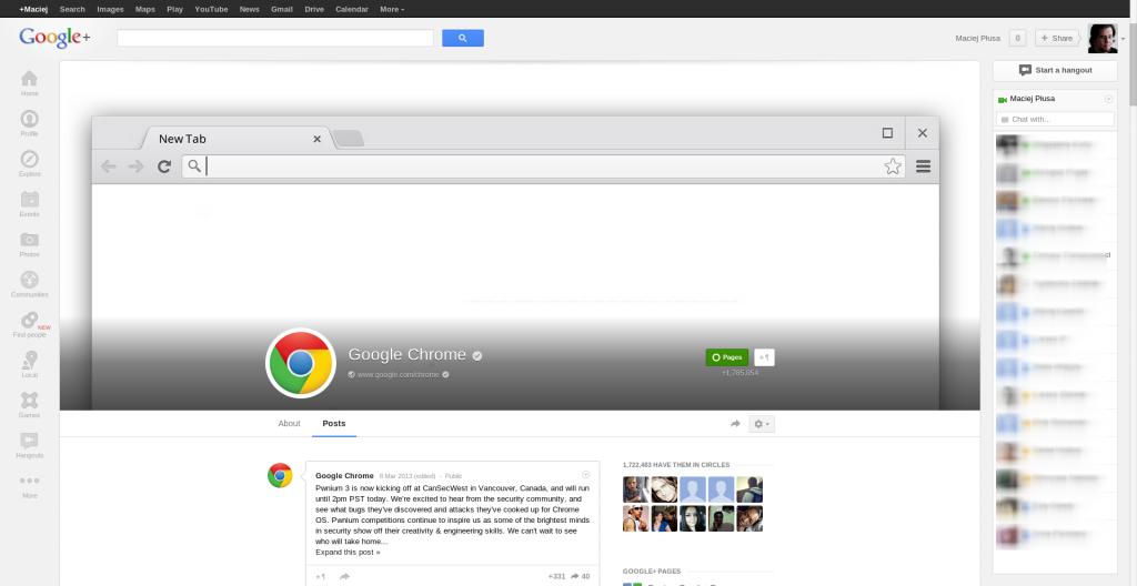 Google Chrome - Google+