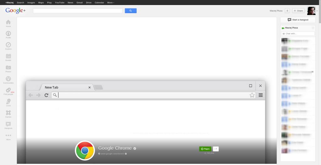 Google Chrome - Google+2